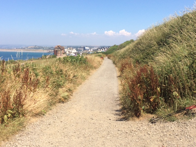 20180708 Turning off the coastal trail near Westward Ho