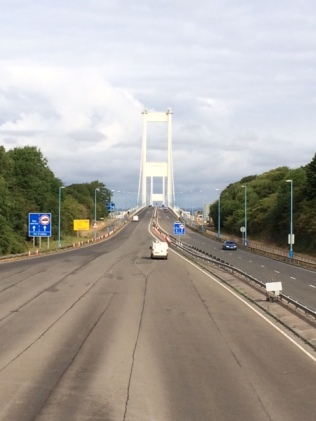 Trying to cross the Severn Bridge