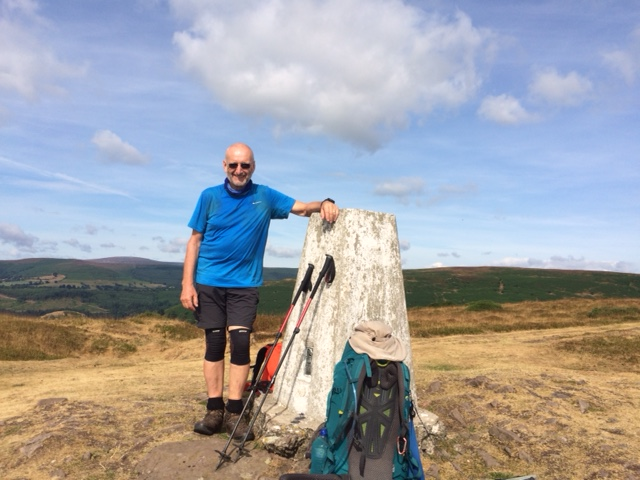 20180725 Trig point on Hatterall Hill