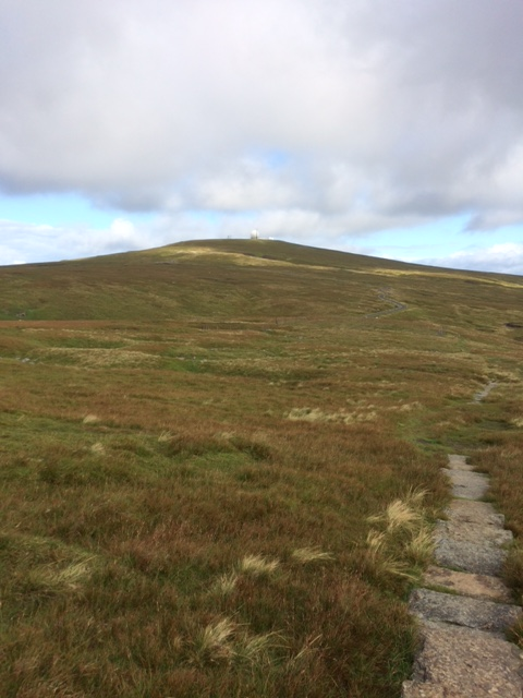 20180816 Approaching radar station on Great Dun Fell