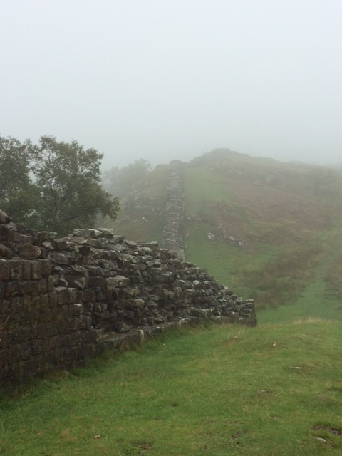 20180819 Hadrian's Wall shrouded in mist