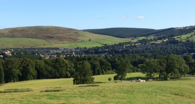 20180825 Looking down on Galashiels