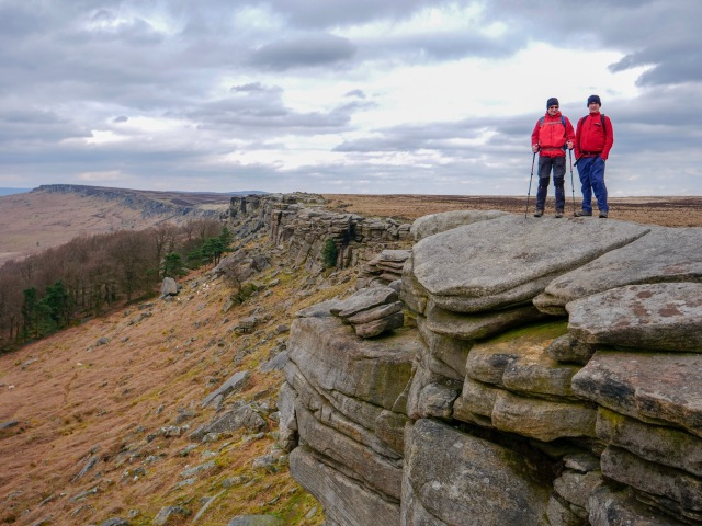 20190405 Neil and Carl on Stanage Edge 2