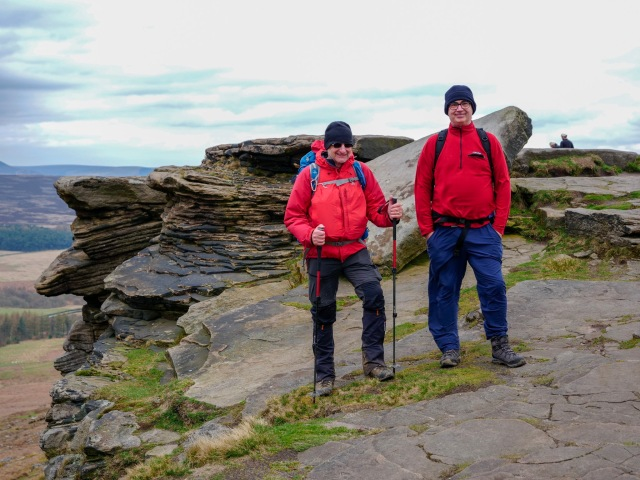20190405 Neil and Carl on Stanage Edge