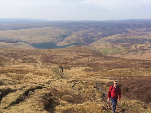 20190406 Carl nearing the summit of Howden Hill