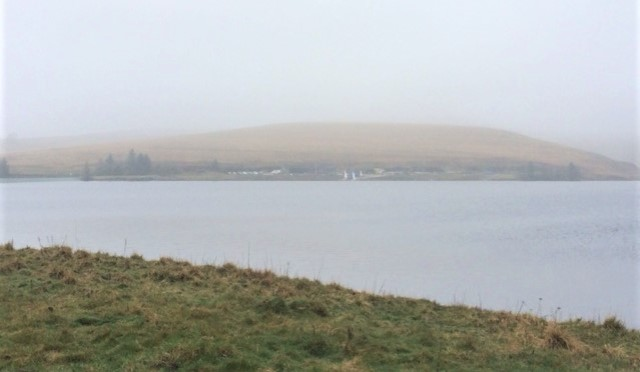 20190407 Winscar Reservoir with misty moors behind