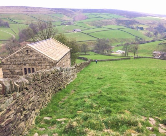 20190409 Steep climb above Ponden Reservoir