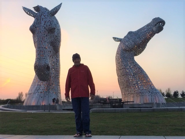 20190417 Neil at the Kelpies