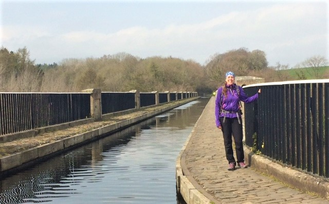 20190417 Rachel at the Avon aqueduct