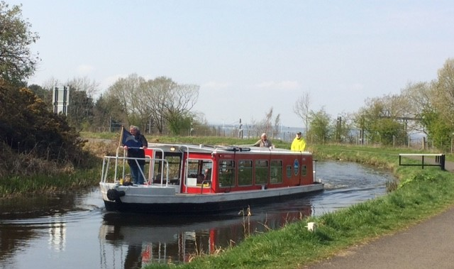 20190417 The only barge we saw on the Union Canal