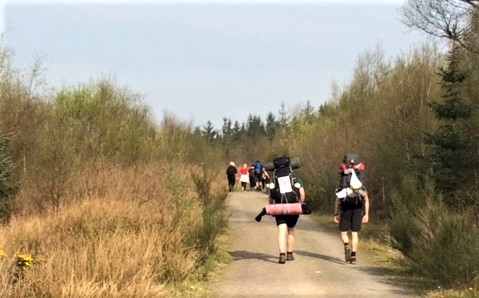 20190421 Crowds on the West Highland Way