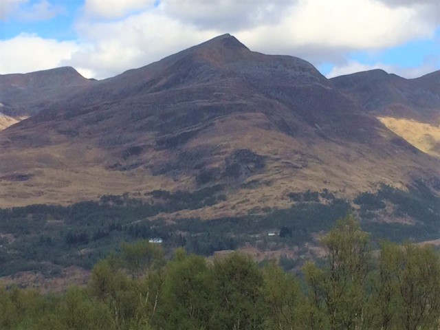 20190425 Am Bodach 1032m towering above Kinlochleven
