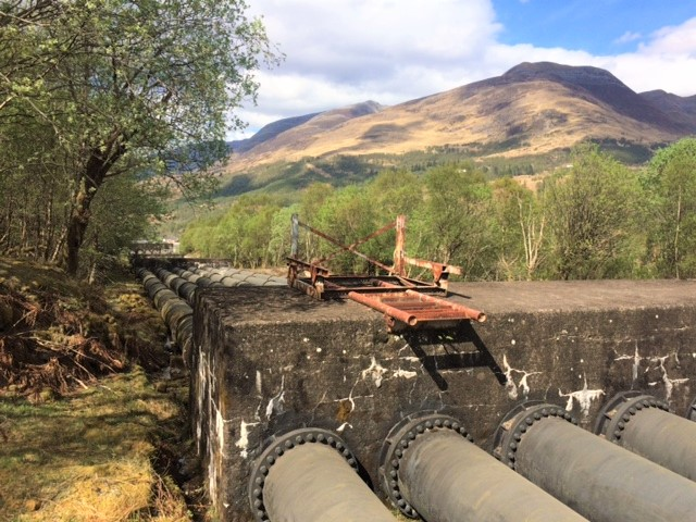 20190425 Disused Hydro Electric water pipes at Kinlochleven