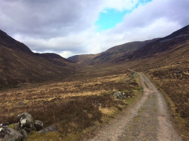 20190426 Looking up the trail from the Lairigmor - Big Pass