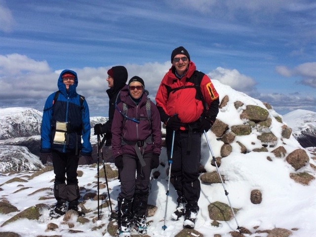 20190507 On the summit of Beinn a Chaorainn
