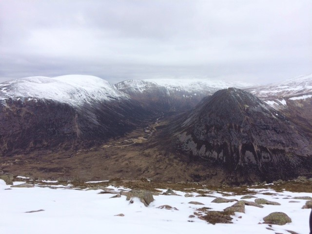 20190510 The valley of the Lairig Ghru from Carn a Mhaim
