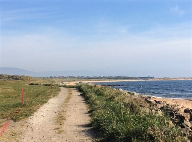 20190515 Path beside Dornoch golf course