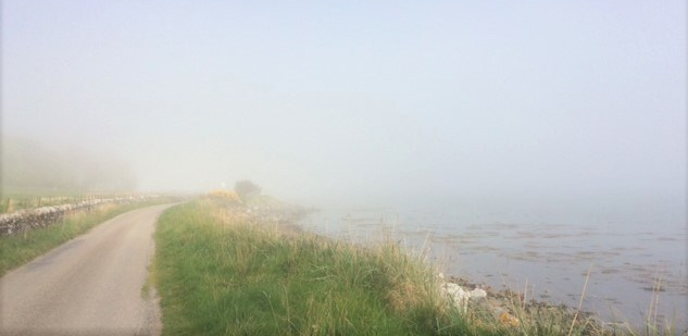 20190515 Sea mist on the road around loch fleet