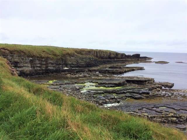 20190521 The path from Wick - much lower cliffs today